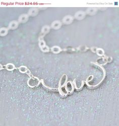 Hey, I found this really awesome Etsy listing at https://www.etsy.com/listing/211753296/sale-love-necklace-sterling-silver