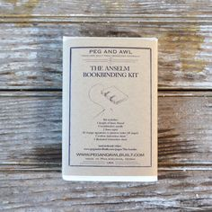 Anselm Bookbinding Kit by PegandAwl on Etsy