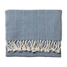 Indigo Herringbone Throw (an affordable version would be nice for living room/cool nights in the back yard)