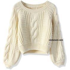 Короткие вязаные свитера с простыми узорами http://mslanavi.com/2015/10/korotkie-vyazanye-svitera-s-prostymi-uzorami/