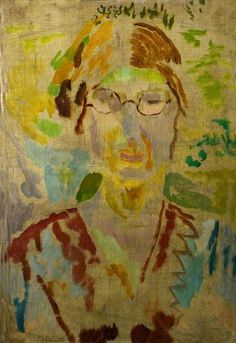 Duncan Grant (UK, - Vanessa Bell - - oil on canvas & panel - New Walk Museum & Art Gallery, Leicester, UK Vanessa Bell, Duncan Grant, Dora Carrington, Virginia Woolf, Illustrations, Illustration Art, Bloomsbury Group, Museum Art Gallery, Portraits