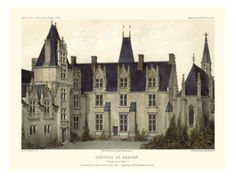 Petite French Chateaux VIII Giclee Print by Victor Petit at Art.com