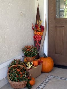 Fall decorating in Florida