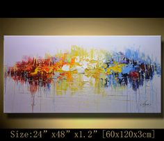Original Abstract Painting, Modern Textured Painting,  Palette Knife, Home wall art Decor, acrylic art Painting on Canvas  by Chen G006