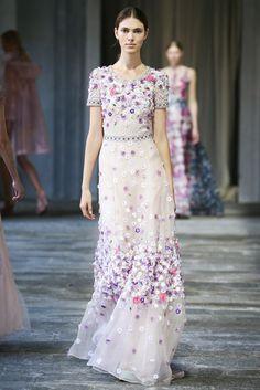 Gorgeous wedding dress with coloured flowers! ZsaZsa Bellagio