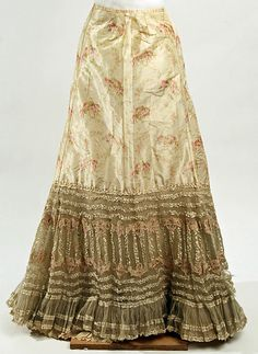 Underskirt Date: ca. 1893 Culture: French Medium: silk Accession Number: C.I.42.54.3 The Metropolitan Museum of Art