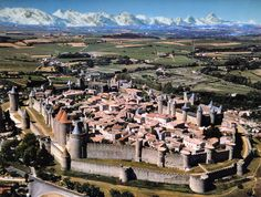 Carcassonne, France. Beautiful city within a city. Truly amazing that towns like this still exist!