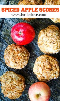 These super simple spiced apple scones are perfect for the cooler winter months when that hint of apple and spice are so warming and comforting. #scones #scottishbaking #larderlove Spiced Apples, Cinnamon Apples, Apple Scones, Larder, Tea Time, Super Easy, Spices, Easy Meals, Food And Drink