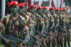Indonesian Army TNI Kopassus.