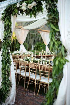 Luxury Garden Wedding in Winter Park, Florida at Casa Feliz