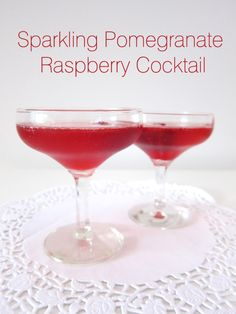 Cocktail Friday – Sparkling Pomegranate Raspberry Cocktail