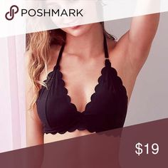 Out From Under Sierra Scallop Fusion Bra Out From Under Sierra Scallop Fusion Bra size small, color black never worn same as new Urban Outfitters Intimates & Sleepwear Bras
