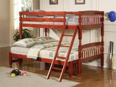 Coaster Coral Traditional Twin Over Full Bunk Bed Las Vegas Furniture Online | LasVegasFurnitureOnline | Lasvegasfurnitureonline.com
