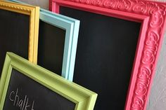 I want a chalkboard wall in a baby room but this would be really cool too in place of if placed at eye level for a kiddo!