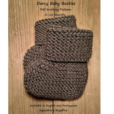 Ravelry: Darcy Baby Bonnet and Booties pattern by Sandra Magalhães Easy Baby Knitting Patterns, Baby Booties Knitting Pattern, Baby Dress Patterns, Baby Clothes Patterns, Christmas Knitting Patterns, Sewing Patterns Free, Knit Patterns, Fabric Patterns, Ravelry