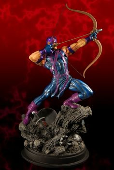 Hawkeye statue  Sculpted by: Randy Bowen    Release Date: April 2006  Edition Size: 2400  Order Of Release: Phase III (statue #65)