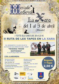 CAMBIO DE ORGANIZADOR : Mercado medieval en La Xara, Alicante 01 al 03 de Abril del 2016 http://www.demercadosmedievales.info/feria/mercado-medieval-en-la-xara-alicante-01-al-03-de-abril-del-2016/