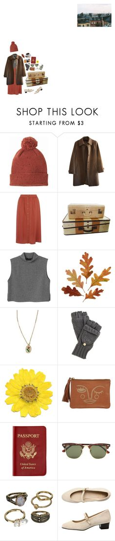 """""""I want to go on adventures with you"""" by fiercelyfloral ❤ liked on Polyvore featuring A.P.C., Monki, Urban Renewal, Passport, Ray-Ban, Mudd and American Apparel"""