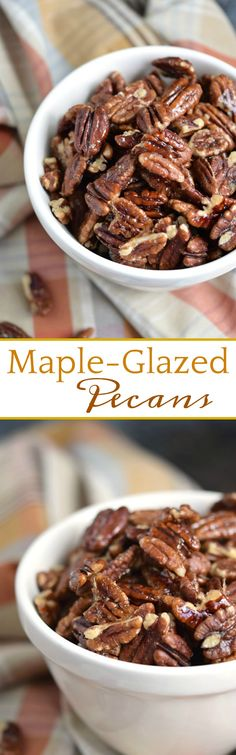 These Maple-Glazed Pecans are proof that sweet, salty, and crunchy snacks can still be healthy! COPYRIGHT © 2017 COOKING WITH CURLS #paleo #whole30 #snacks #healthy