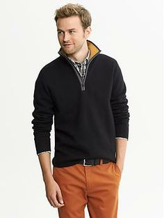 I really want this Milano Contrast Half-Zip Pullover from Banana Republic
