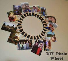 Photo Wheel DIY  #christmas #giftgiving #DIY