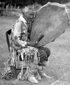 An elderly Sakha man performing a ritual, which was filmed and photographed by…