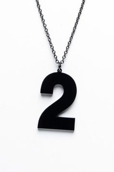 Number 2 Necklace.