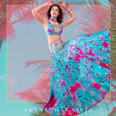 Where To Shop Multi Colour Lehengas From? Mehendi Outfits, Indian Bridal Outfits, Pakistani Bridal Wear, Indian Designer Outfits, Bridal Lehenga, Indian Dresses, Designer Dresses, Indian Designers, Pakistani Dresses