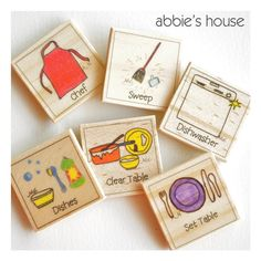 chore chart magnets: great shop with a lot of different chore magnets... so cute!