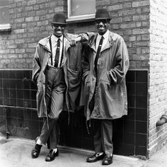 CHUKA AND DUBEM, TWINS WEARING MOD / SKA, RUDE BOY STYLE, LONDON, 1979 - JANETTE BECKMAN