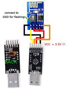 ESP8266 to USB2TTL