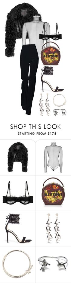 """""""Untitled #564"""" by mimiih on Polyvore featuring Burberry, Akris, Morgan Lane, Gianvito Rossi, Versace and Balenciaga"""