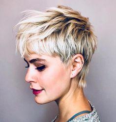 50 Short Choppy Hair Ideas for 2020 – Hair Adviser Platinum Blonde Pixie Short Hair Lengths, Short Hair Styles Easy, Short Hair Cuts For Women, Short Hairstyles For Women, Curled Hairstyles, Easy Hairstyles, Men's Hairstyle, Different Hairstyles, Formal Hairstyles