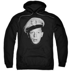 PULLOVER HOODIE ANDY GRIFFITH BARNEY HEAD ADULT