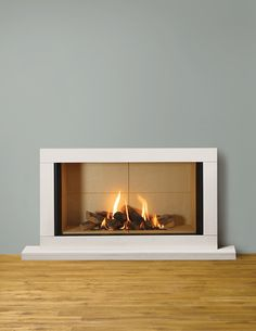 Super Wood Burning Fireplace To Gas Fire Places 58 Ideas Contemporary Gas Fires, Contemporary Fireplace Designs, Outdoor Fireplace Designs, Modern Fireplace, Fireplace Ideas, Electric Fireplace With Mantel, Corner Gas Fireplace, Wood Interior Walls, Grey Interior Design
