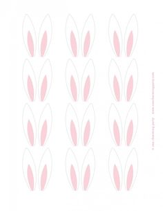 Easter Bunny Ears for a cupcake - lots of theme party printables too.