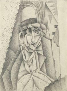 Jean Metzinger (French, 1883 - 1956) The Yellow Feather (La Plume Jaune), N/D Pencil on paper, 315 x 231 mm