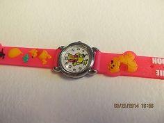 Winnie The Pooh Children Pink Cartoon PVC Band Quartz Wrist watch Toy 211
