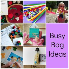 Busy Bags - What a great idea. A Busy Bag is an activity that is age appropriate, portable and can be completed independently.
