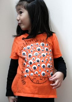 100 eyed monster shirt for 100 day of school #crafts #school