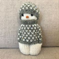 The Latest Cost -Free Knitting and Crochet baby Suggestions Gudrun Dahle on Instag Knitted Doll Patterns, Knitted Dolls, Knitting Patterns, Crochet Patterns, Wire Crochet, Crochet Baby, Knit Crochet, Loom Knitting Projects, Knitting Toys