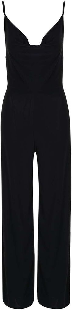 Womens black cowl neck slinky jumpsuit by rare from Topshop - £38 at ClothingByColour.com