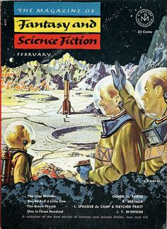 The Magazine of Fantasy and Science Fiction (Feb. 1953), cover by George Gibbons