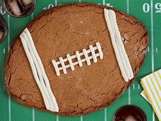 Score big with the fans at your party with this giant Peanut Butter Football Cookie.