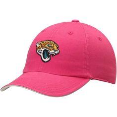 newest 56f6b f054f Girls Youth Jacksonville Jaguars Pink Slouch Adjustable Hat