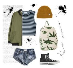 """""""Don't Give a F***"""" by rose-okeeffe ❤ liked on Polyvore featuring O-Mighty, Vans, Converse, One Teaspoon and A.L.C."""