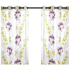 Grommet-topped curtain panel with a vine motif.    Product: Set of 2 curtain panelsConstruction Material: Polyester a...