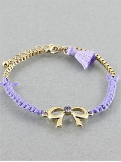 Violet Bow Bracelet from P.S. I Love You More Boutique