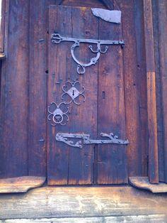 Door to Uvdal Stavkirke, Norway