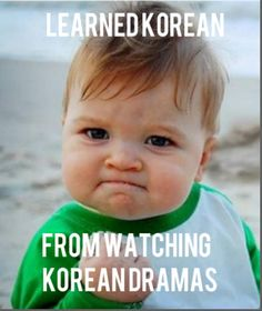 Learned Korean From Watching Korean Dramas! :) totally true.